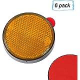 Aohewei 6 X Rückstrahler Selbstklebend Gelb Seitenstrahler Katzenaugen Reflektoren Rechteckig Zum Aufkleben Sicherheit Hinten Reflektierend Für Zaunpfosten Anhänger Wohnwagen Ece Zulassung Gelb Auto