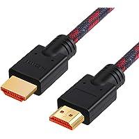 Chliankj Câble HDMI, High Speed avec Ethernet, 3D,1080P et Audio Return,1m 2m 3m 5m 10m 15m 20m 25m (5m)