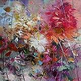 OME&MEI Rahmenlose Bilder Handgemalte Ölgemälde Wohnkultur Gemälde Blumen Bilder Große Bilder - 80Cmx140Cm C