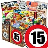 Geschenk Box | Zahl 15 | DDR Geschenkbox Vater | 24er Allerlei