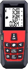Laser Distance Meter Measurement Device Measure Finder Professional Display 40m Range 131ft Digital Handheld Handle Level Outdoor Tool MS-40A Rangefinder Tape Area/Volume
