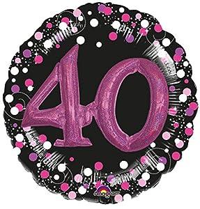 Amscan International 3597701 - Globo de papel de aluminio para cumpleaños (40 unidades), color rosa