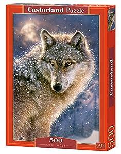 Castorland Lone Wolf 500 pcs Puzzle - Rompecabezas (Puzzle Rompecabezas, Fauna, Niños y Adultos, Lobo, Niño/niña, 9 año(s))
