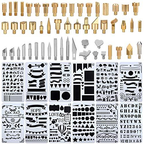 Kit soldador, puntas pluma quemar madera, incluye