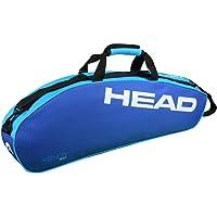 HEAD Xenon 300 Single Compartment 3 Racquet Badminton kit Bag (Size: 75x10x27 cm | Colour: Blue/Turquoise)