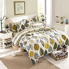 Ahmedabad Cotton Premium Cotton Comforter with Mircofibre filling, 200 GSM - Beige, Green, Blue