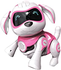Yeezee Girl's Remote Control Dog, Interative Little Baby Pup with Magent Bone, Walking Talking Robot Pet for Kids/Boys/Girls (Rr-1)