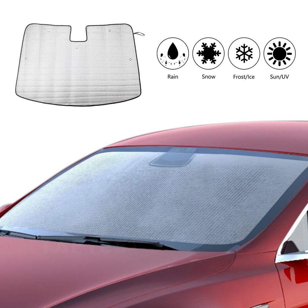 Parasol Delantero para Ventanilla De Coche Plegable para Tesla Modelo 3 Parasol Bloqueador De Protecci/ón contra El Reflector Solar Y Visor Solar Sun Baiwka Parabrisas