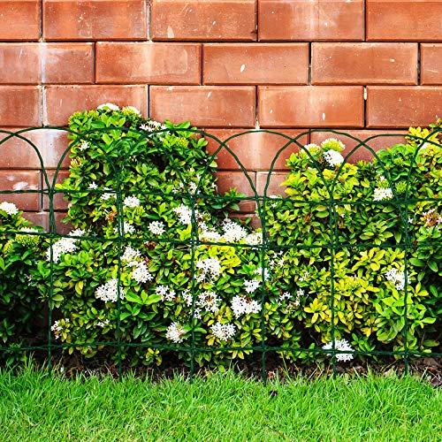Floordirekt Ziergeflecht   Grün   Maschenweite: 15x9 cm   4 Größen   Ziergitter für Garten (65 cm x 10 m)
