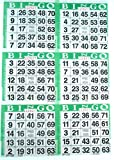 6 on Green Bingo Paper Cards - 500 sheets - 3000 cards by American Games