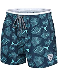 dc9e44f5a7 coskefy Swimming Shorts for Men Quick Dry Swim Trunks Solid Leisure  Watershorts