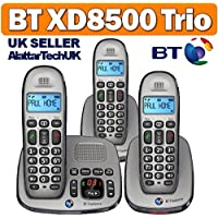 BT Freelance XD8500 Triple Pack Digital Cordless Telephone with Answering Machine