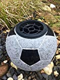 Fußball Grabvase Granitfußball Granitvase 19cm x 19cm Fußballvase Vase Grabschmuck Friedhofsvase modern