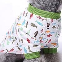 2-pack Chien Vêtements Chien Chat Combinaison Coton doux Pyjama Chien Chiot Barboteuse pour animal domestique Ange Cosy bodies pour petits chiens et chats par Hongyh