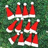Weihnachtsmütze,BBTXS 10 STÜCK Weihnachten Dekorative geschirr Messer Gabel Set Weihnachten Hut Storage Tool