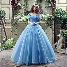 JJK Versión Moderna de la Novia Vestido de Plataforma Cenicienta Vestido de Color Azul Vestido de Novia Vestido de Boda,UN,SG