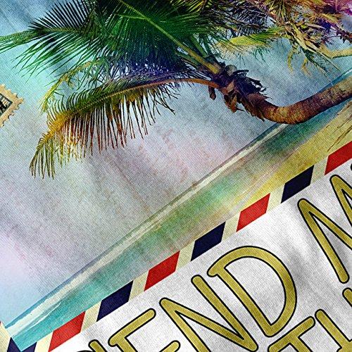 Sommer Reise Meer Urlaub Postkarte Damen S-2XL Muskelshirt | Wellcoda Weiß