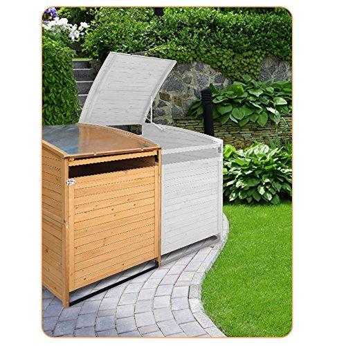 Mülltonnenbox Holz 240 L Gartenbox Mülltonnenverkleidung Mülltonne (Einzelbox 240L) - 5