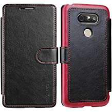 WAWO LG G5 Cover - Étui Housse en Cuir Ultra-mince Avec La Fonction Wallet pour LG G5 Coque - Noir