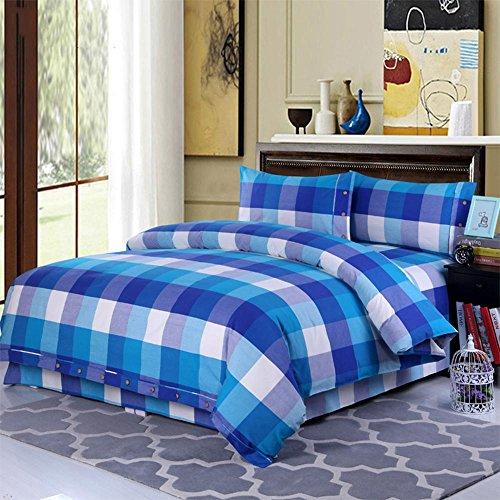WYFC Cotton 4-teilige Bettwäsche Set Steppdecken 1pc Bettbezug 2pcs Shams 1pc Flat Sheet, New 10, König (10 Stück Bettwäsche-sets Königin)