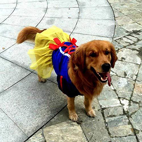 Kostüm Husky Siberian - FGDSSE Sommer Golden Retriever Husky Siberian Husky Prinzessin Big Pet Kostüm