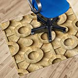 Home & Office 3D Dekor Bodenschutz Stuhlmatte | Braunes Laminat Bild | PVC Zubehör für Bodenbeläge | Innere | Original Innen | Kunst Bild | Bunt | Lebendige Fantasie 100 x 130cm | 1.5 mm Dicke