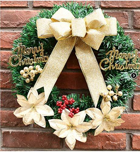Yirenfeng decorazioni natalizie personalizzabili 30/40/50/60 / natale ghirlanda centro commerciale porta finestra anello in rattan 50cm a