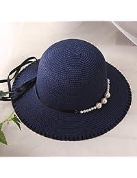 Fashion cap Sombrero de Pescador de Señoras de Primavera y Verano Gorro de  Costura de Perlas Protector Solar Plegable de Viaje de… 20671513150