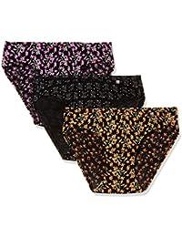 Jockey Women's Cotton Bikini (Pack of 3) (Colors and Prints may vary)