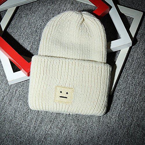 Global- Chapeau décoratif en hiver pour femme Chapeau en toile chaude épais chapeau tricoté ( couleur : Gray ) Beige