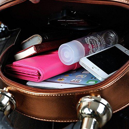 YANX La signora personalità della moda tipo di allarme portatile pacchetto pacchetto diagonale banchetto (28 * 28 * 9cm) , brown Red