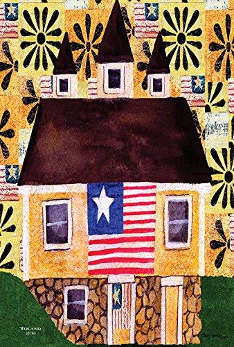 Toland Home Garden Americana Home Deko-Fahne, 31,8 x 45,7 cm, rustikal, Patriotische Sterne, gestreift