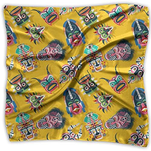 Stamm Quadratischen Form (Pizeok Stammes-Maske ethnischen Frauen quadratischen Schal Kopfschmuck Mehrzweck Mode Schals)
