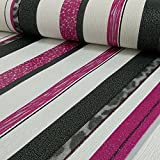 P S gestreift &Glitter, Strukturtapete 13471-10 Designer Tapete