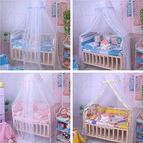 yibenwanligod Kuppel Vorhang Baby Baldachin Bett Net Moskito MES Zelt Krippe Netting Schlafzimmer Dekor Rosa (Schlafzimmer Netting)
