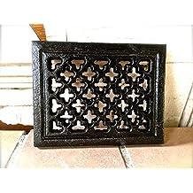 Antikas - reja de ventilación chimeneas estilo antiguo - cercas de aire - reja de hierro fundido para chimeneas