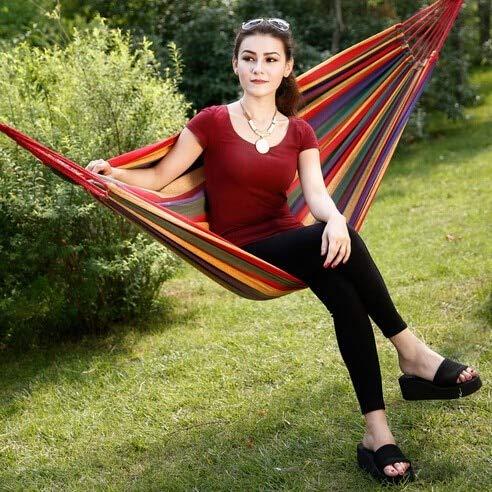 ShiXuan Günstigen Preis tragbare Outdoor Garten hängematte hängen Bett Reise Camping schaukel leinwand Streifen