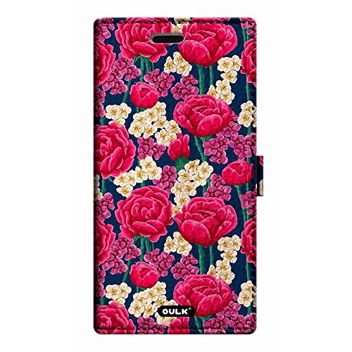OULK(R) Apple iphone 7 Plus 5.5 inch PU Litchi Leather Pink Rose FlowersWallet Kickstand Case For iphone 7 Plus 5.5 (MD18) MD1