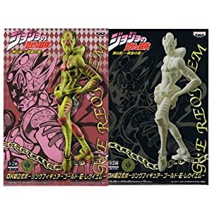 JoJo's Bizarre Adventure DX assembly type Posing Figure - Gold E E E Requiem whole set of 2 by Banpresto