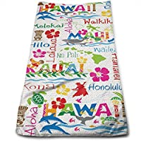 ewtretr Toallas De Mano, Hawaiian Adventures Microfiber Beach Towel Large & Oversized - 11.8