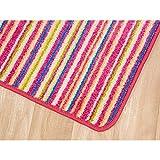 Kinderzimmerteppich Streifenteppich - Rainbow - Pink - 1,40m x 2,00m