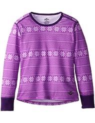 Hot Chillys Funktionsshirt Midweight Print - Camiseta de compresión de running para niña, color rosa, talla L