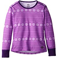 Hot Chillys Funktionsshirt Midweight Print - Camiseta de compresión de running para niña, color rosa, talla S