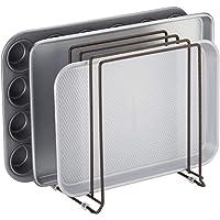 mDesign égouttoir en métal pour casseroles, poêles, plaques de pâtisserie etc. – support à ustensiles de cuisine compact…
