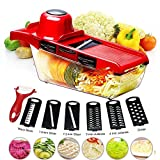 BYETOO Mandoline Slicer Vegetable Cutter Grater Chopper Julienne Slicer - 6 Interchangeable Blades