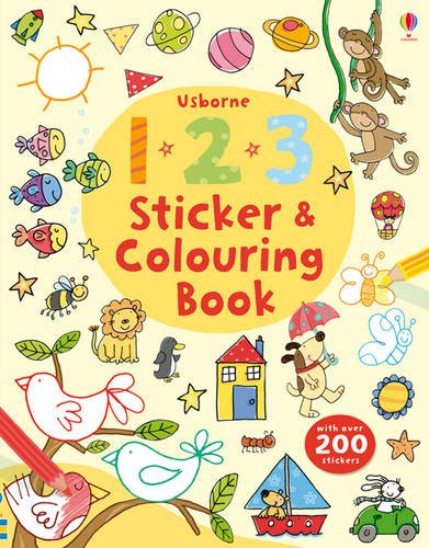 123 Sticker and Colouring Book (Usborne Colouring Book + Stickers)
