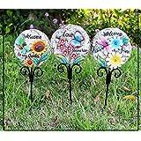 Wonderland Garden/planters/vase Stones Stake or Sticks for Decoration- Set of 3