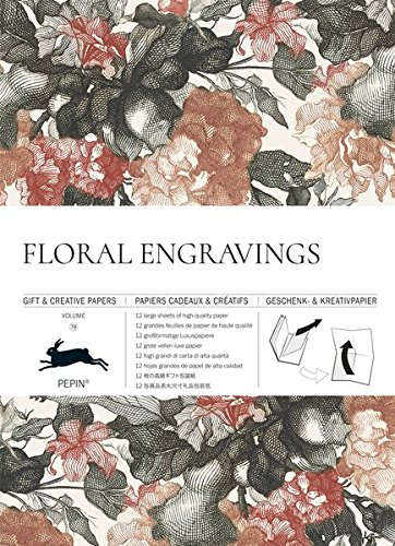 Floral Engravings: Vol. 79: Gift & Creative Paper Book (Gift & Creative Papers Vol 79)