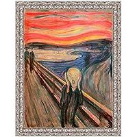 LuxHomeDecor marco impresión sobre lienzo con marco de madera Edvard Munch The Scream