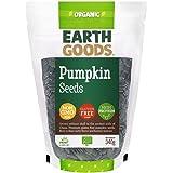 Earth Goods Organic Pumpkin Seeds, NON-GMO, Gluten-Free, High Protein 340g